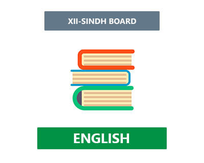 English - XII Second Year - Sindh Board